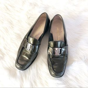Salvatore Ferragamo Olive Patent Leather Loafers